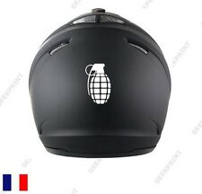 STICKER AUTOCOLLANT CASQUE MOTO SCOOTER BIKE BIKER GRENADE