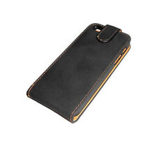 NEW OKER BLACK LEATHER FOLDING CASE APPLE IPHONE 5 5S  SUPER FAST SHIPPING