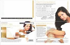 WHITE TO BROWN SPRAY TANNING SALON  CLIENT RECORD CONSULTATION CARDS  PACK OF 50