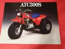 1986 Honda ATC-200S Three Wheeler Sales Brochure