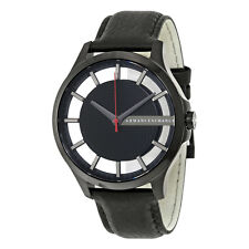 Armani Exchange Men's AX2180 Black Dial Black Leather Watch