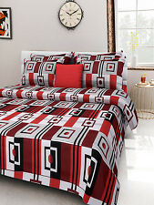 Homefabs 100% Cotton Double Bed Sheet with 2 Pillow Covers (DBS 037)