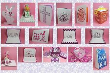 CRAFT ROBO/SILHOUETTE Easter cards, popups, boxes & bag templates CD23 (New)
