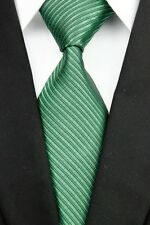 White Green Brown Black Red Blue New Striped Classic Silk Men's Tie Necktie DO