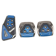 Universal Blue Manual Brake Gas Clutch Racing Pedal Pads Cover For Car SUV
