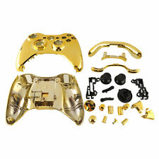 1Set Gold Chrome Replacement Shell Case +Button For Xbox 360 Controller