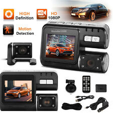 "2.0"" Dual Lens Car DVR Camera Video Tachograph G-sensor Cam Recorder w/ Speaker"