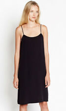 Equipment Cara Silk Slip Dress in True Black Size Small S