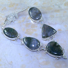 """MOSS AGATE NECKLACE 19""""; K98517"""
