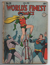 DC   WORLD'S FINEST COMICS  26  1947  SUPERMAN BATMAN ROBIN  BATPLANE   COMPLETE
