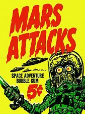 Publicidad Mars Attacks Bubble Gum Alien Monster Platillo arte cartel impresión lv974