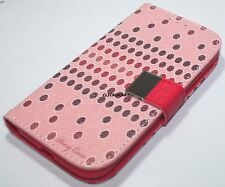 Flip PU Leather Wallet Case With Screen Protector For Samsung S4 i9500