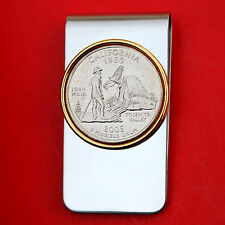 US 2005 California State Quarter BU Uncirculated Coin Two Toned Money Clip New