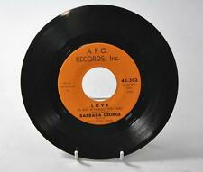 "SOUL 45RPM BARBARA GEORGE ""I KNOW"" & ""LOVE (IS JUST A CHANCE YOU TAKE)"" AFO"