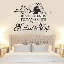 Husband and Wife Removable Vinyl Wall Sticker Decal Mural Bedroom Art Home Decor