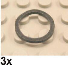 3  St. NEUE Gummiringe quadratisch 2x2  schwarz (x151)  205