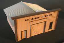 LORENZO LIVERY STABLE - OLD WEST - N-321 - N Scale by Randy Brown