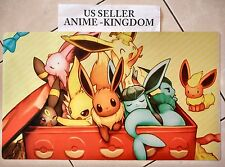 Custom Yugioh Playmat Play Mat Large Mouse Pad Pokemon Cute Eevee #365