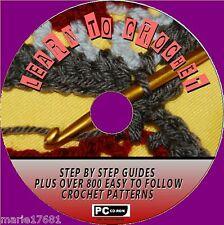 """""""come Crochet"""" un facile da seguire Guide + 800 grande Crochet Modelli CD ROM NUOVO"""