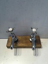 Refurbished Chrome Basin Taps Vintage Made By Old Century T40