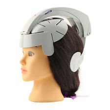 Electric Head Massager Brain Massage Relax Acupuncture Points Gray Fashion BE