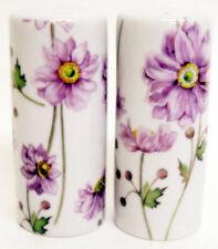 Giapponese Anemone Sale & Pepe Rotondo Oliera Set Floreale Mano Decorato UK