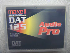 DAT TAPE MAXELL 125 MINUTE PROFESSIONAL AUDIO PRO 10 PACK BRAND NEW
