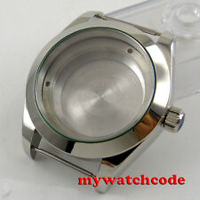 40mm 316L steel silver automatic Watch Case fit swiss ETA 2824 2836 MOVEMENT 110