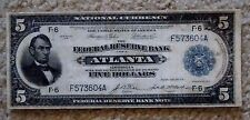 Scarce $5 1918 THE FEDERAL RESERVE BANK ATLANTA