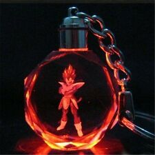 DBZ Dragonball Z Super Saiyajin Vegeta Cosplay Crystal LED Keychain Charm New