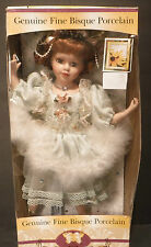 "Jenny Faith ~ Genuine Fine Bisque Porcelain Collection Doll - 15"" With Stand NIB"