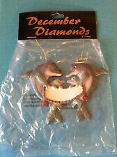 Family of Dolphins Personalized Christmas Ornament by December Diamonds Retired