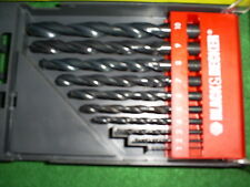 BLACK AND DECKER 10 PIECE HSS DRILL SET  A8035
