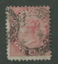 """CANADA #14 USED 4-RING NUMERAL CANCEL """"34"""""""