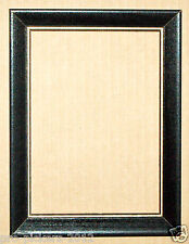 Solid Wood Classic Black 5x7 Picture Frame Stock w/ Gold Accent Border Crafts