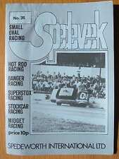 Stock car racing programme spedeworth spedeweek no 35 septembre 1975 wisbech