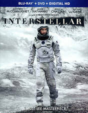 Interstellar Blu-ray DVD Digital Copy 2015 3-Disc Set UltraViolet No Film Cell