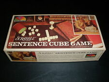 1971 VINTAGE SCRABBLE SENTENCE CUBE GAME BY SELCHOW & RIGHTER COMPLETE