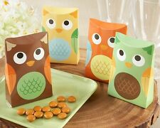 24 Whooo's Happy Colorful Owl Baby Shower Birthday Party Favor Boxes