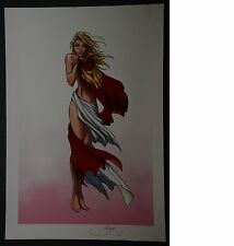 Supergirl Caped Michael Turner Aspen Art Print