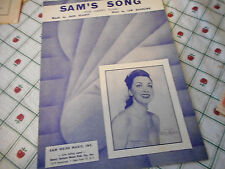 Kitty Kallen Sam's Song 1950 Photo Sheet Music