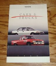 Original 1988 Toyota Car & Truck Full Line Sales Brochure 88 Supra Corolla MR2