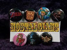 "1"" pinback buttons inspired by ""The Legend of Zelda"" Nintendo NES"
