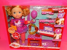 NEW LITTLE MOMMY LET'S MAKE MUSIC !  INTERACTIVE DOLL 12 TUNES 5 INSTRUMENTS