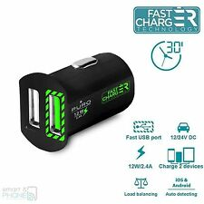 PURO 2-fach USB FAST Charge 2.4A Samsung/Apple, Sony KFZ Auto Ladestecker Mini