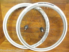 RARE FRM PRO CAMPAGNOLO FREE HUB 700 SILVER VELOCITY CLINCHER WHEELSET TIRE