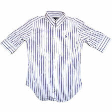 Polo Ralph Lauren Womens Shirt Super Slim Fit Button Up Striped Poplin New Nwt