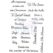 A6 conjunto de sello claro-Tis la temporada-Navidad Saludos tradicional Cardmaking