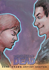 Walking Dead Comic Series Two Sketch Card by Alfredo Lopez Jr of Negan