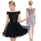 STOCK Knee Mini/short Vtg Bridesmaid COCKTAIL Prom Party Ball Gown Evening Dress
